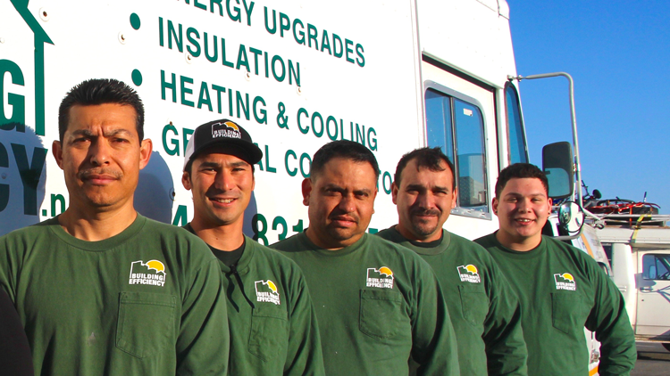 The Building Efficiency Team (from left to right): Heather, Jose, David, Lalo, Beto and Omero